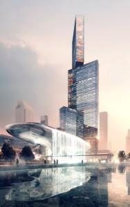 В Китае  возведение небоскреба (1)