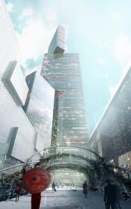 В Китае  возведение небоскреба (2)