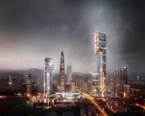 В Китае  возведение небоскреба (3)